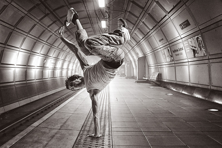 """Subway Dancer"" by Jaka Koren."