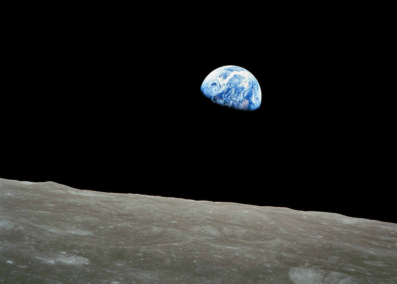"""Earth Rise"" by NASA."